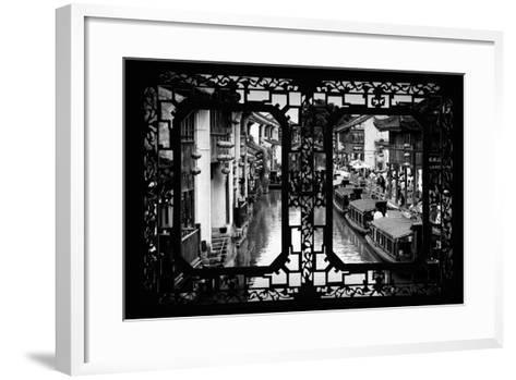 China 10MKm2 Collection - Asian Window - Shantang water Town - Suzhou-Philippe Hugonnard-Framed Art Print