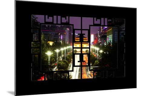 China 10MKm2 Collection - Asian Window - City Night Xi'an-Philippe Hugonnard-Mounted Photographic Print