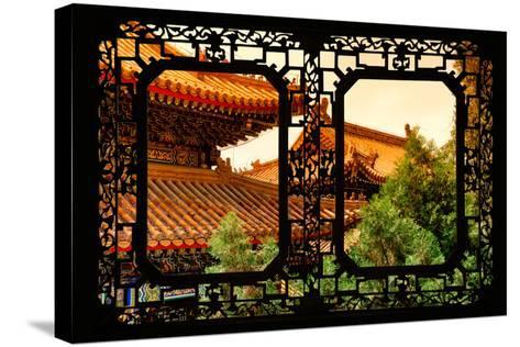 China 10MKm2 Collection - Asian Window - Summer Palace Architecture at Sunset-Philippe Hugonnard-Stretched Canvas Print