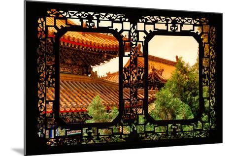 China 10MKm2 Collection - Asian Window - Summer Palace Architecture at Sunset-Philippe Hugonnard-Mounted Photographic Print