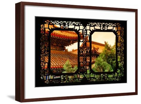 China 10MKm2 Collection - Asian Window - Summer Palace Architecture at Sunset-Philippe Hugonnard-Framed Art Print