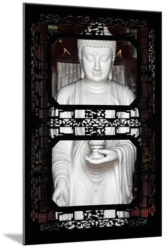 China 10MKm2 Collection - Asian Window - White Buddha-Philippe Hugonnard-Mounted Photographic Print
