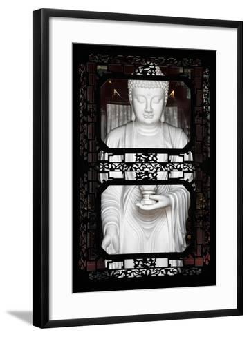 China 10MKm2 Collection - Asian Window - White Buddha-Philippe Hugonnard-Framed Art Print
