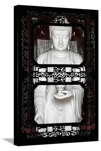 China 10MKm2 Collection - Asian Window - White Buddha-Philippe Hugonnard-Stretched Canvas Print