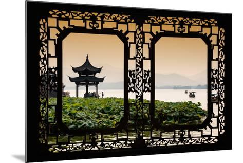 China 10MKm2 Collection - Asian Window - West Lake at sunset-Philippe Hugonnard-Mounted Photographic Print