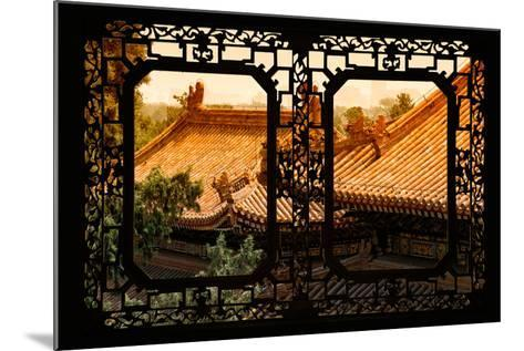 China 10MKm2 Collection - Asian Window - Roofs of Summer Palace at Sunset-Philippe Hugonnard-Mounted Photographic Print