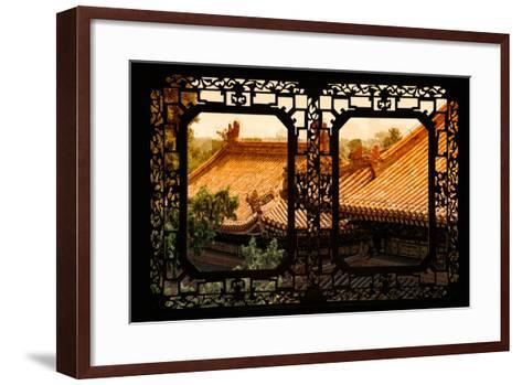 China 10MKm2 Collection - Asian Window - Roofs of Summer Palace at Sunset-Philippe Hugonnard-Framed Art Print