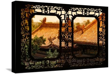 China 10MKm2 Collection - Asian Window - Roofs of Summer Palace at Sunset-Philippe Hugonnard-Stretched Canvas Print