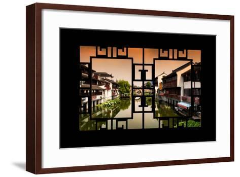 China 10MKm2 Collection - Asian Window - Chinese Water Town-Philippe Hugonnard-Framed Art Print