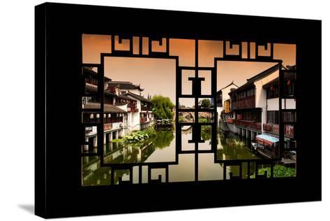 China 10MKm2 Collection - Asian Window - Chinese Water Town-Philippe Hugonnard-Stretched Canvas Print