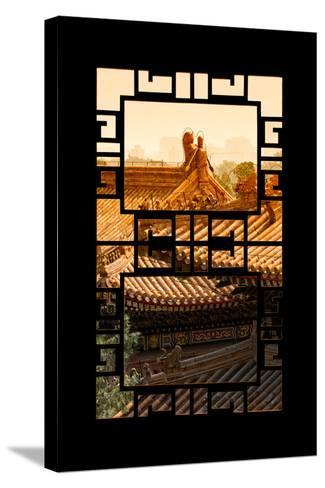 China 10MKm2 Collection - Asian Window - Sunset Summer Palace Architecture-Philippe Hugonnard-Stretched Canvas Print