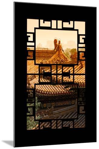 China 10MKm2 Collection - Asian Window - Sunset Summer Palace Architecture-Philippe Hugonnard-Mounted Photographic Print