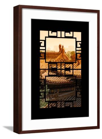 China 10MKm2 Collection - Asian Window - Sunset Summer Palace Architecture-Philippe Hugonnard-Framed Art Print