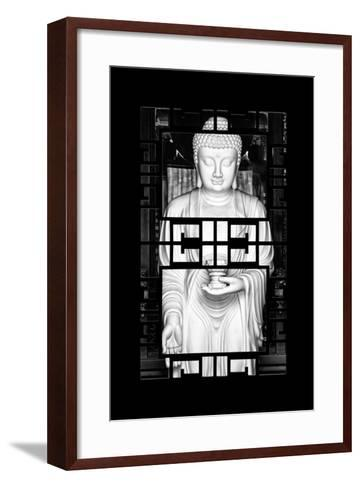 China 10MKm2 Collection - Asian Window - White Buddha-Philippe Hugonnard-Framed Art Print