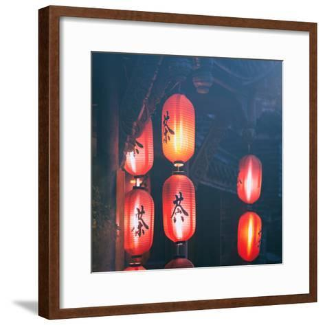 China 10MKm2 Collection - Chinese Lanterns-Philippe Hugonnard-Framed Art Print