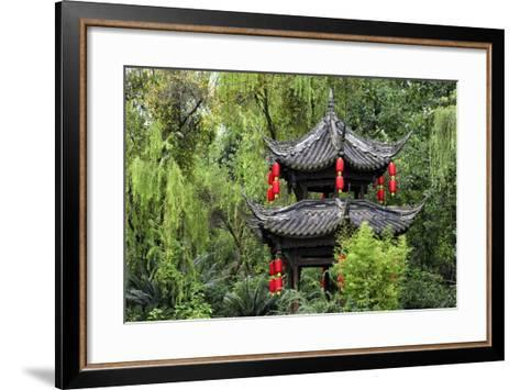 China 10MKm2 Collection - Chinese Pavilion in Garden-Philippe Hugonnard-Framed Art Print