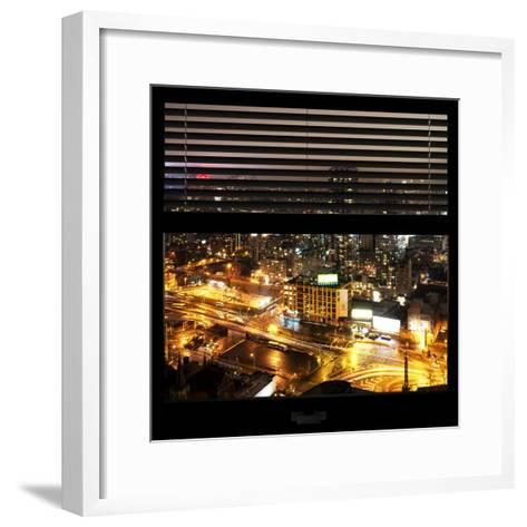 View from the Window - Downtown Manhattan-Philippe Hugonnard-Framed Art Print