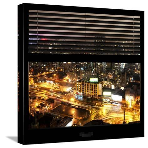 View from the Window - Downtown Manhattan-Philippe Hugonnard-Stretched Canvas Print