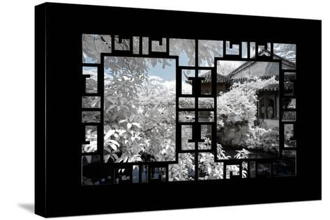 China 10MKm2 Collection - Asian Window - Another Look Series - White House-Philippe Hugonnard-Stretched Canvas Print