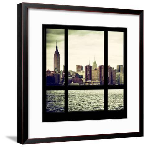 View from the Window - Skyline - Manhattan-Philippe Hugonnard-Framed Art Print