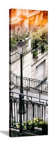 Paris Focus - Stairs of Montmartre-Philippe Hugonnard-Stretched Canvas Print