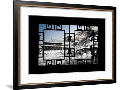 China 10MKm2 Collection - Asian Window - Another Look Series - Forbidden City-Philippe Hugonnard-Framed Art Print