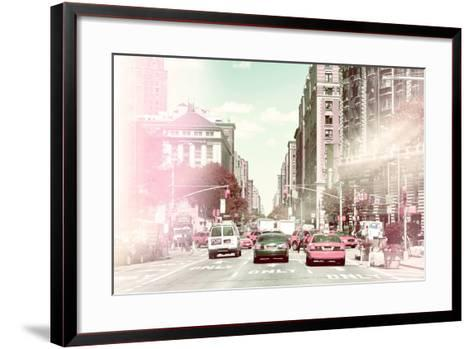 Pastel Series - New York City-Philippe Hugonnard-Framed Art Print