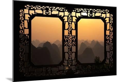 China 10MKm2 Collection - Asian Window - Karst Mountains at Sunset - Yangshuo-Philippe Hugonnard-Mounted Photographic Print