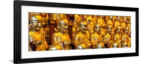 China 10MKm2 Collection - Gold Buddhist Statue in Longhua Temple-Philippe Hugonnard-Framed Art Print