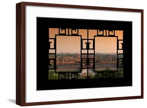 China 10MKm2 Collection - Asian Window - Forbidden City at Sunset - Beijing-Philippe Hugonnard-Framed Art Print