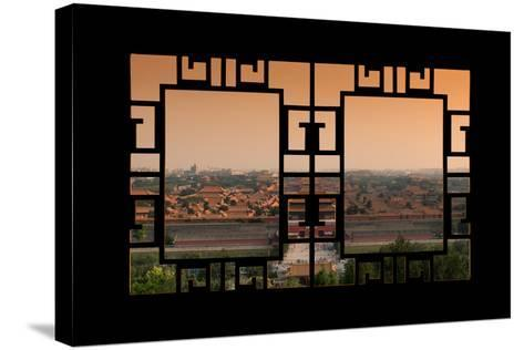 China 10MKm2 Collection - Asian Window - Forbidden City at Sunset - Beijing-Philippe Hugonnard-Stretched Canvas Print