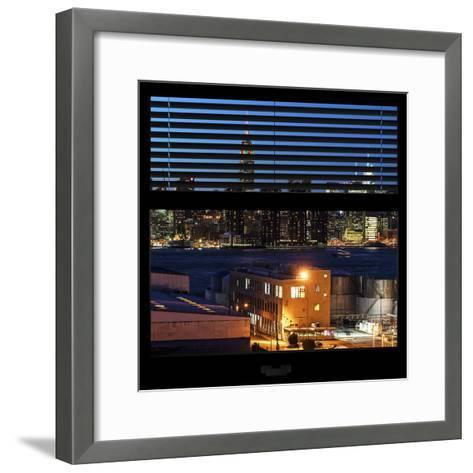 View from the Window - Night Skyline - New York City-Philippe Hugonnard-Framed Art Print