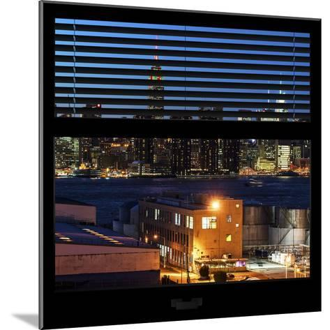 View from the Window - Night Skyline - New York City-Philippe Hugonnard-Mounted Photographic Print