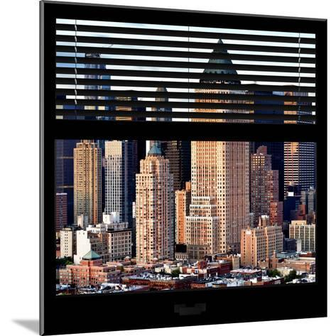 View from the Window - Manhattan Skyscrapers-Philippe Hugonnard-Mounted Photographic Print
