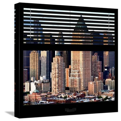 View from the Window - Manhattan Skyscrapers-Philippe Hugonnard-Stretched Canvas Print