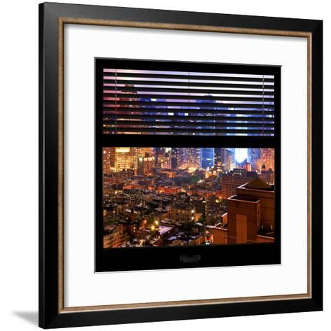 View from the Window - Hell's Kitchen Night - Manhattan-Philippe Hugonnard-Framed Art Print