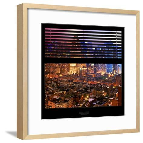 View from the Window - Hell's Kitchen Night - Manhattan-Philippe Hugonnard-Framed Art Print