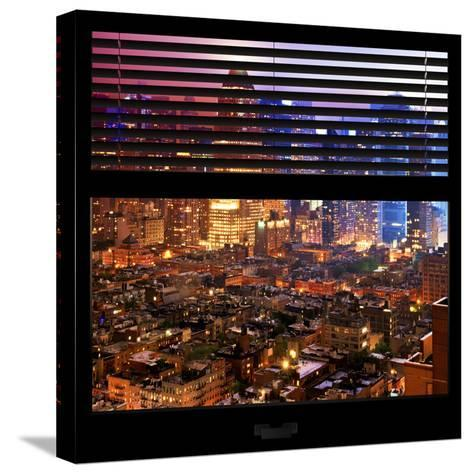 View from the Window - Hell's Kitchen Night - Manhattan-Philippe Hugonnard-Stretched Canvas Print