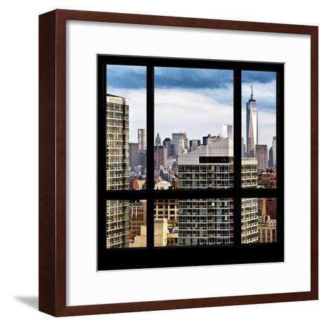 View from the Window - Manhattan Skyscrapers-Philippe Hugonnard-Framed Art Print
