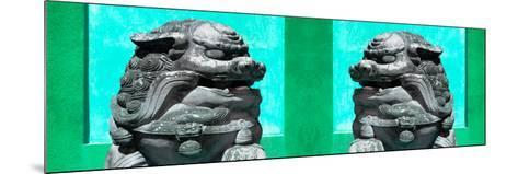 China 10MKm2 Collection - Asian Sculpture with two Lions-Philippe Hugonnard-Mounted Photographic Print