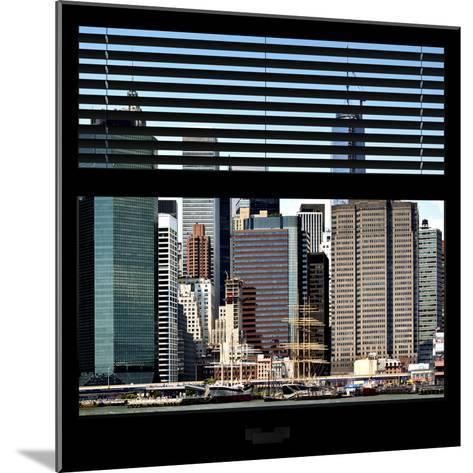 View from the Window - NYC Architecture-Philippe Hugonnard-Mounted Photographic Print