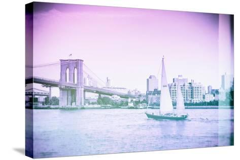 Pastel Series - New York City-Philippe Hugonnard-Stretched Canvas Print