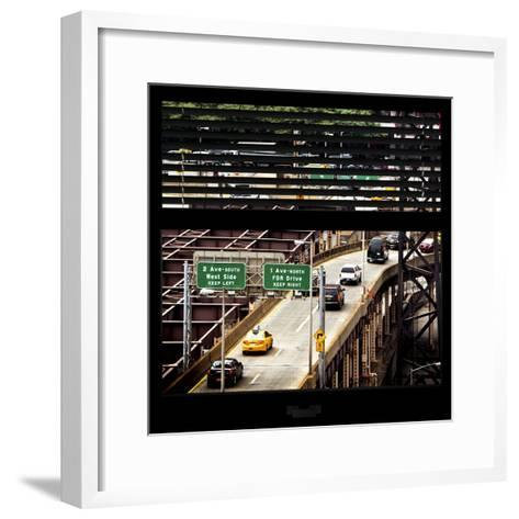 View from the Window - New York Traffic-Philippe Hugonnard-Framed Art Print