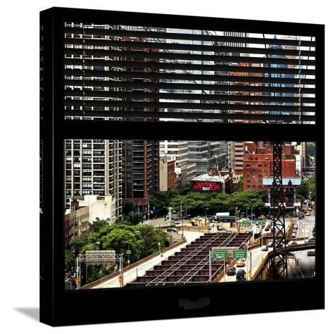 View from the Window - New York Traffic-Philippe Hugonnard-Stretched Canvas Print