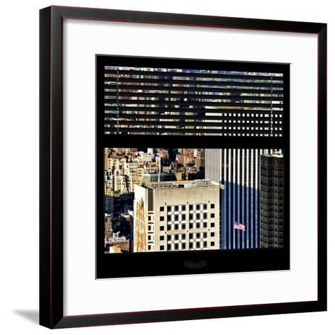 View from the Window - Upper Manhattan Building-Philippe Hugonnard-Framed Art Print