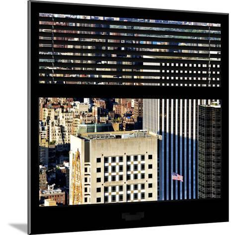 View from the Window - Upper Manhattan Building-Philippe Hugonnard-Mounted Photographic Print