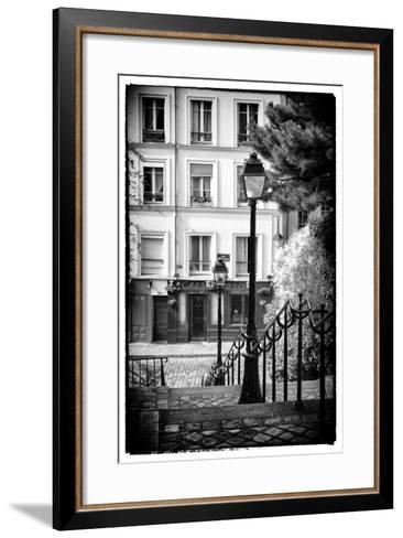 Paris Focus - Steps to Montmartre-Philippe Hugonnard-Framed Art Print