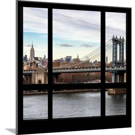 View from the Window - NYC City Bridge-Philippe Hugonnard-Mounted Photographic Print