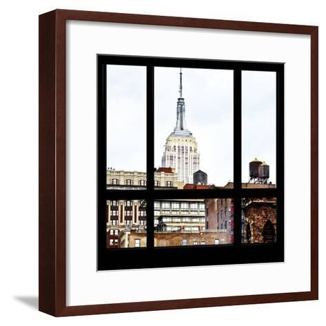 View from the Window - Empire State Building-Philippe Hugonnard-Framed Art Print