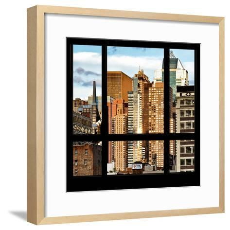 View from the Window - NYC Architecture-Philippe Hugonnard-Framed Art Print